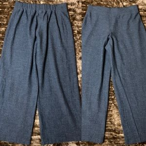Eileen Fisher 100% Wool Wide Leg Ankle Pant XL